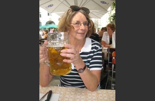 ...and beer! That's my mum!