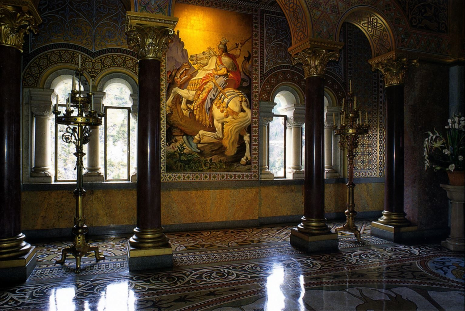 inside neuschwanstein castle photos - a gallery