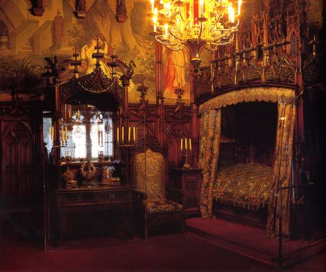 Bedroom on Newschwanstein Castle Bedroom