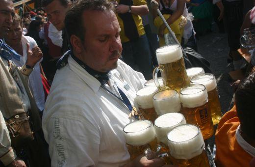 The Oktoberfest is hard work!