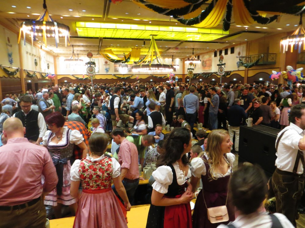 Paulaner am Nockherberg: When the weather is right, the beer garden is a  popualr part of Starkbierfest