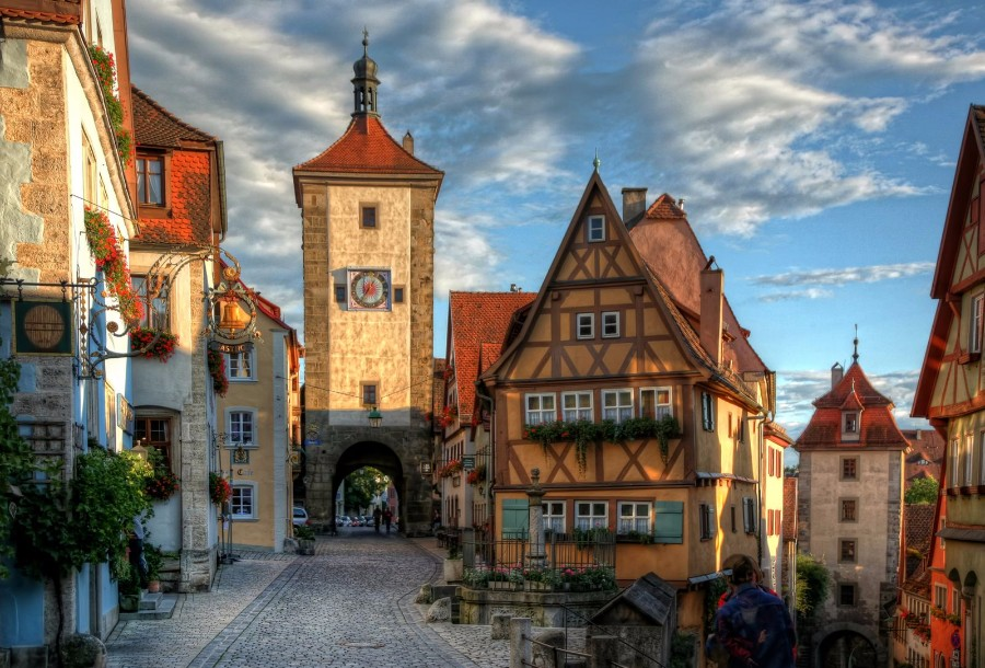 Famous street in Rothenburg